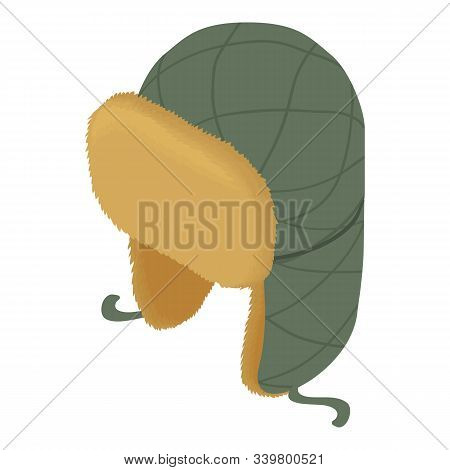 Headwear Flaps Icon. Isometric Of Headwear Flaps Vector Icon For Web Design Isolated On White Backgr