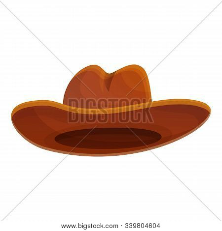 Texas Cowboy Hat Icon. Cartoon Of Texas Cowboy Hat Vector Icon For Web Design Isolated On White Back