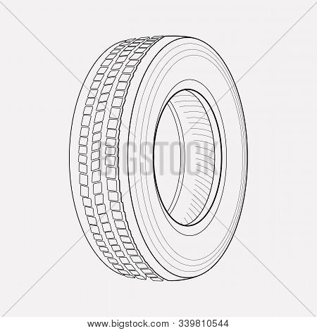 Tyre Icon Line Element. Vector Illustration Of Tyre Icon Line Isolated On Clean Background For Your