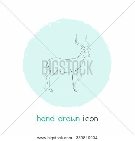 Antelope Icon Line Element. Vector Illustration Of Antelope Icon Line Isolated On Clean Background F