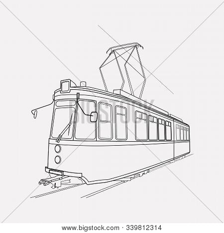 Tram Icon Line Element. Vector Illustration Of Tram Icon Line Isolated On Clean Background For Your