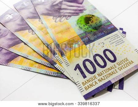 Swiss Paper Money Thousand Francs, New Issue