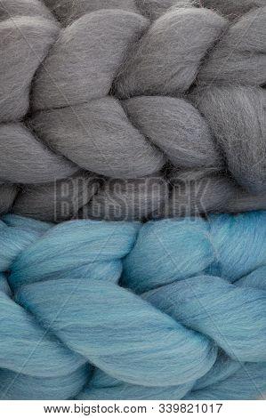 Chunky Merino Wool Scarfs Isolated On White Background. Modern Lifestyle.