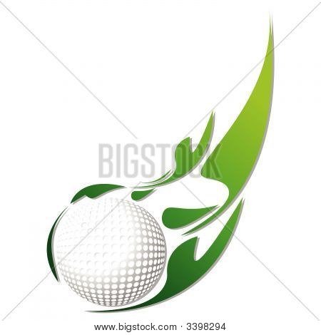 Golf Ball With Green Effect
