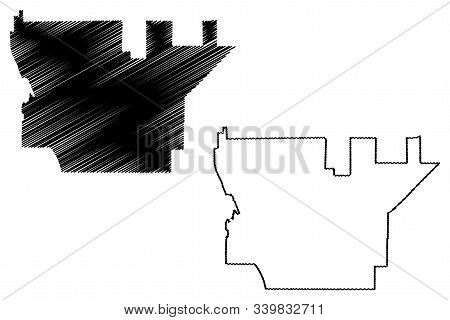 Rancho Cucamonga City (united States Cities, United States Of America, Usa City) Map Vector Illustra
