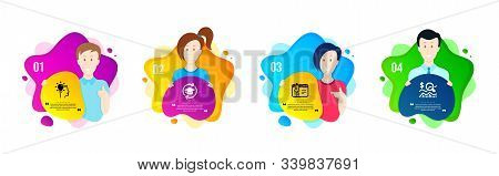 Start Business, Idea And Continuing Education Icons Simple Set. People Shapes Timeline. Check Invest