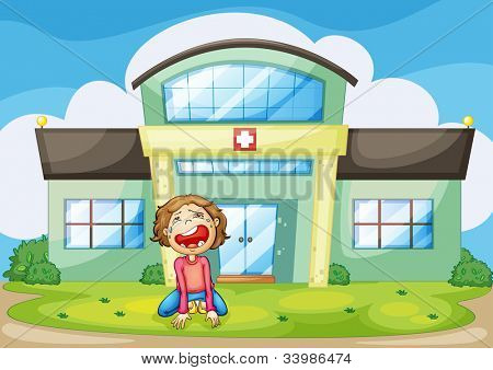 Illustration of a child crying - EPS VECTOR format also available in my portfolio.