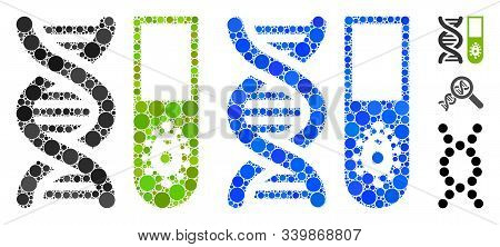Hitech Microbiology Mosaic Of Small Circles In Different Sizes And Color Tinges, Based On Hitech Mic