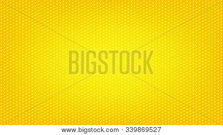 Blurred Background. Circle Dots Pattern. Abstract Yellow Gradient Design. Round Spot Texture Backgro