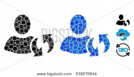 Refresh Mosaic Of Circle Elements In Different Sizes And Shades, Based On Refresh Icon. Vector Circl