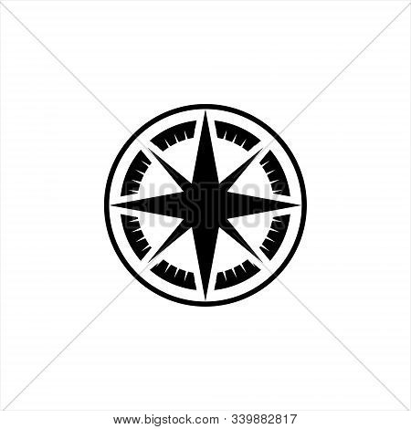 Compas Icon Isolated On White Background. Compas Icon Image, Compas Vector Modern, Design Flat Compa