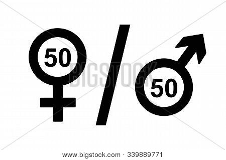 Female And Male Icon Symbol Equal Rights Concept Vector Illustration Eps10