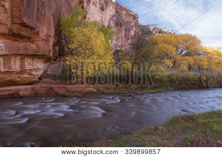 Autumn In Capitol Reef National Park Near Torrey, Utah