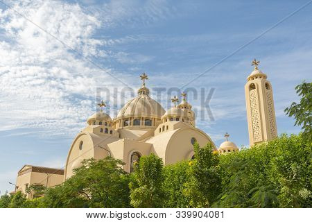 Coptic Orthodox Church In Sharm El Sheikh, Egypt. All Saints Church. Concept Of The Righteous Faith