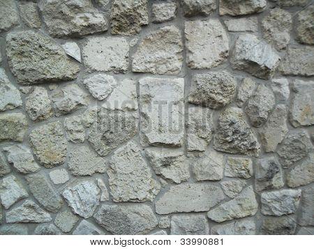 wall from rocks