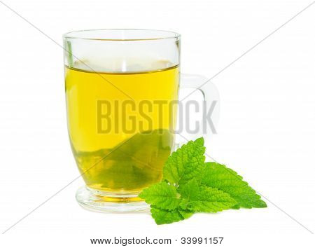 Glass Of Lemon Balm Tisane