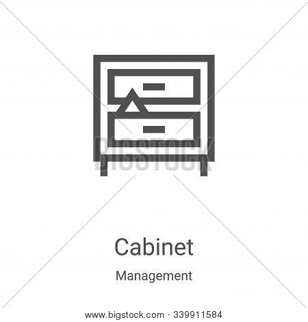 cabinet icon isolated on white background from management collection. cabinet icon trendy and modern