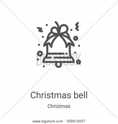 christmas bell icon isolated on white background from christmas collection. christmas bell icon tren