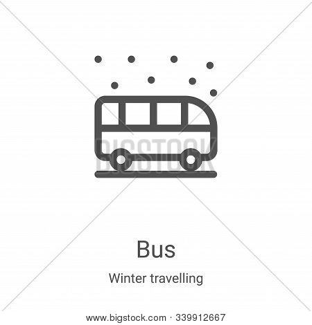 bus icon isolated on white background from winter travelling collection. bus icon trendy and modern