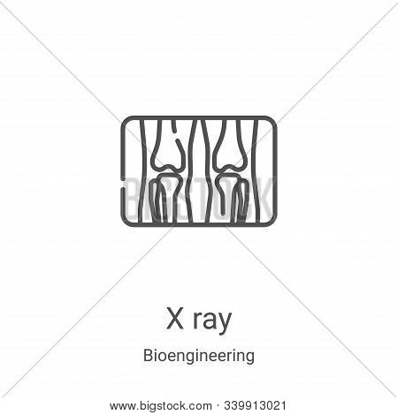 x ray icon isolated on white background from bioengineering collection. x ray icon trendy and modern