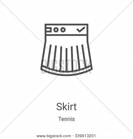 skirt icon isolated on white background from tennis collection. skirt icon trendy and modern skirt s