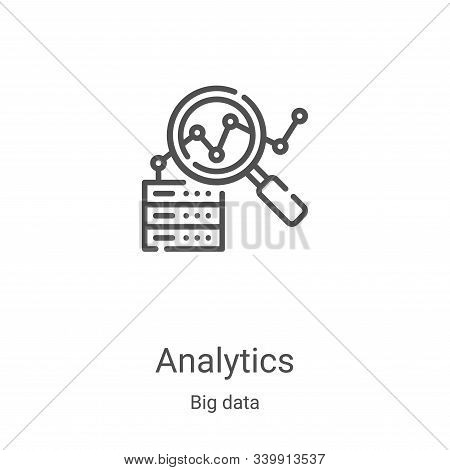 analytics icon isolated on white background from big data collection. analytics icon trendy and mode