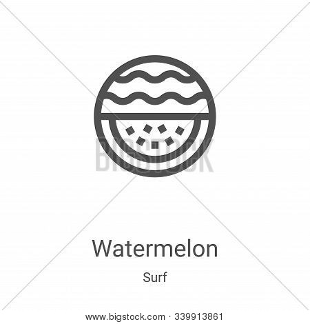 watermelon icon isolated on white background from surf collection. watermelon icon trendy and modern