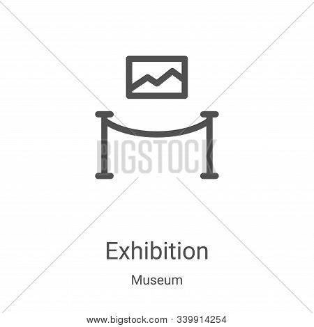 exhibition icon isolated on white background from museum collection. exhibition icon trendy and mode