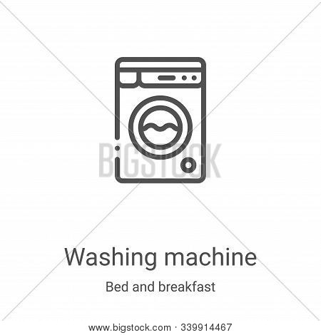 washing machine icon isolated on white background from bed and breakfast collection. washing machine