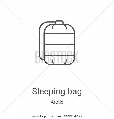 sleeping bag icon isolated on white background from arctic collection. sleeping bag icon trendy and