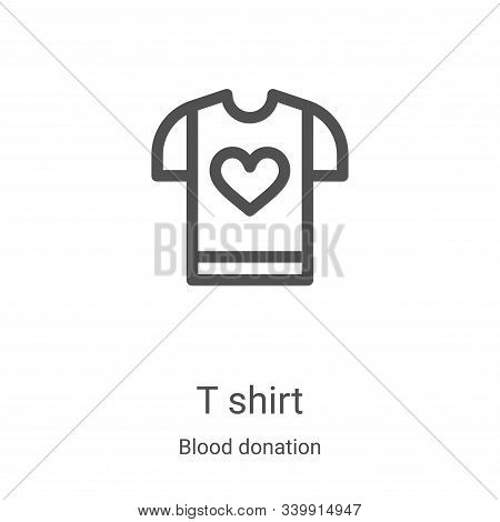 t shirt icon isolated on white background from blood donation collection. t shirt icon trendy and mo