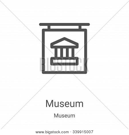 museum icon isolated on white background from museum collection. museum icon trendy and modern museu
