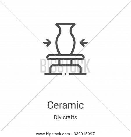 ceramic icon isolated on white background from diy crafts collection. ceramic icon trendy and modern