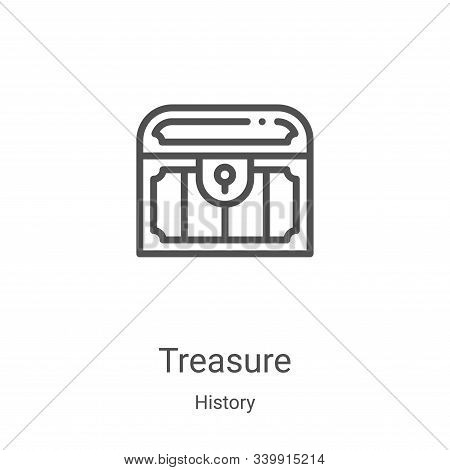 treasure icon isolated on white background from history collection. treasure icon trendy and modern
