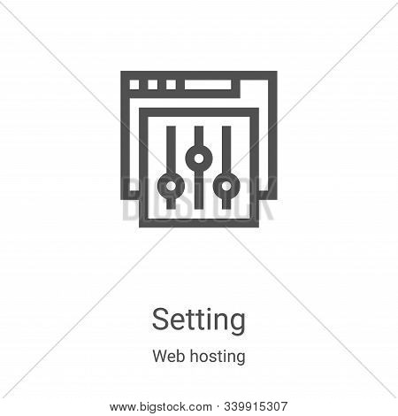 setting icon isolated on white background from web hosting collection. setting icon trendy and moder
