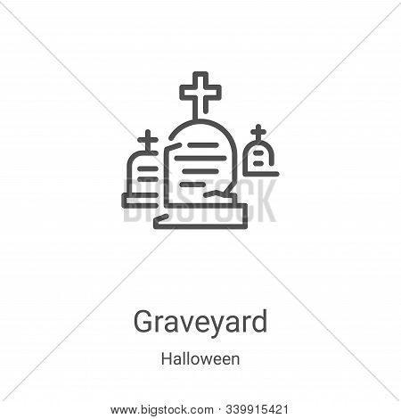 graveyard icon isolated on white background from halloween collection. graveyard icon trendy and mod