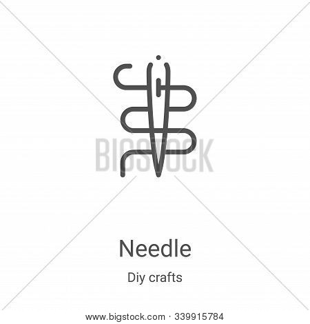 needle icon isolated on white background from diy crafts collection. needle icon trendy and modern n