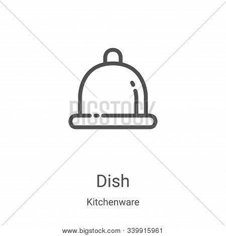 dish icon isolated on white background from kitchenware collection. dish icon trendy and modern dish