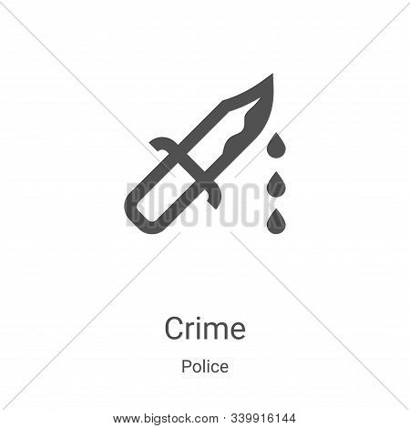 crime icon isolated on white background from police collection. crime icon trendy and modern crime s