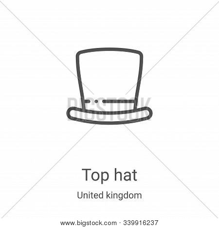 top hat icon isolated on white background from united kingdom collection. top hat icon trendy and mo