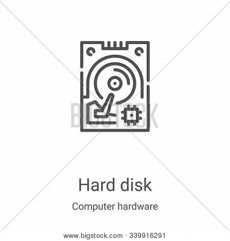 hard disk icon isolated on white background from computer hardware collection. hard disk icon trendy