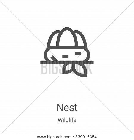 nest icon isolated on white background from wildlife collection. nest icon trendy and modern nest sy
