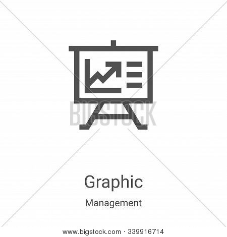 graphic icon isolated on white background from management collection. graphic icon trendy and modern