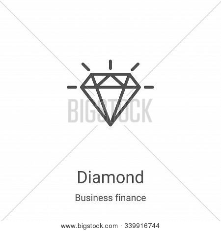 diamond icon isolated on white background from business finance collection. diamond icon trendy and