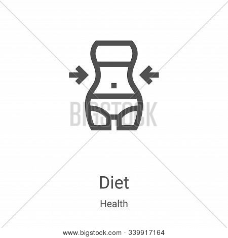 diet icon isolated on white background from health collection. diet icon trendy and modern diet symb