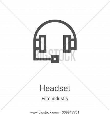 headset icon isolated on white background from film industry collection. headset icon trendy and mod