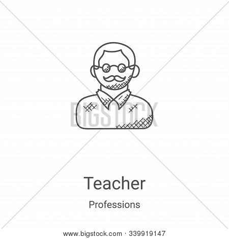 teacher icon isolated on white background from professions collection. teacher icon trendy and moder