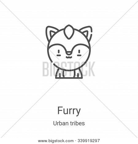furry icon isolated on white background from urban tribes collection. furry icon trendy and modern f