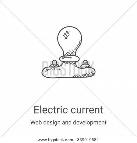 electric current icon isolated on white background from web design and development collection. elect