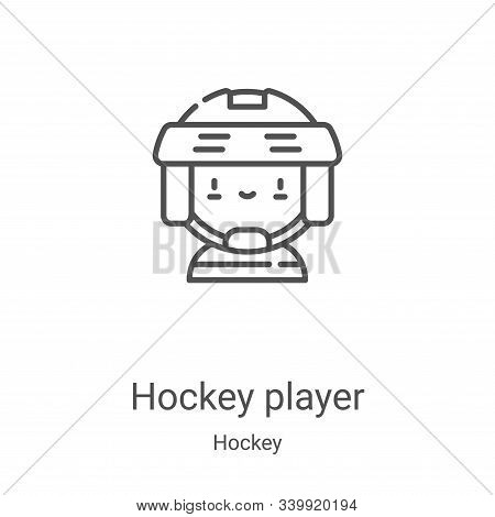 hockey player icon isolated on white background from hockey collection. hockey player icon trendy an